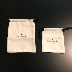 Two small Kate Spade ♠️ Drawstring Bags